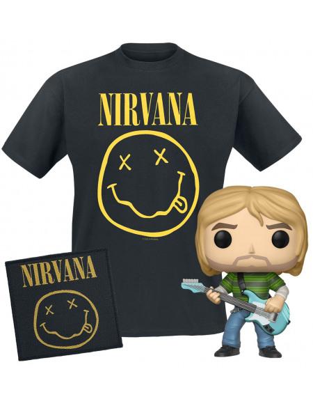 Nirvana Nirvana Bundle T-Shirt & Funko & Patch Standard