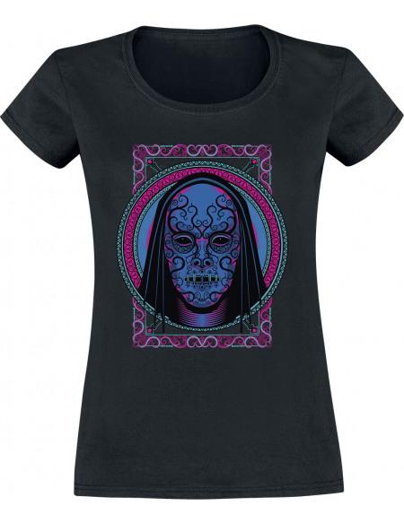 Harry Potter Mangemort Néon T-shirt Femme noir