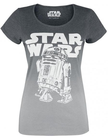 Star Wars R2D2 Logo T-shirt Femme gris chiné