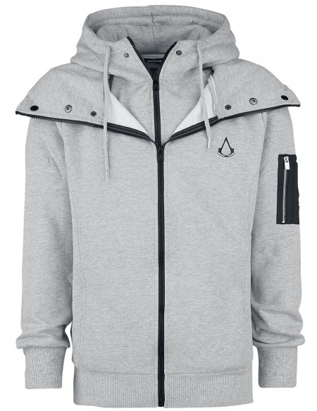 Assassin's Creed Double Epaisseur Sweat Zippé à Capuche gris chiné