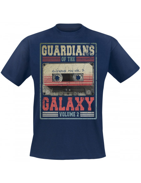 Les Gardiens De La Galaxie Les Gardiens de la Galaxie 2 - Mixtape Vol. 2 T-shirt marine