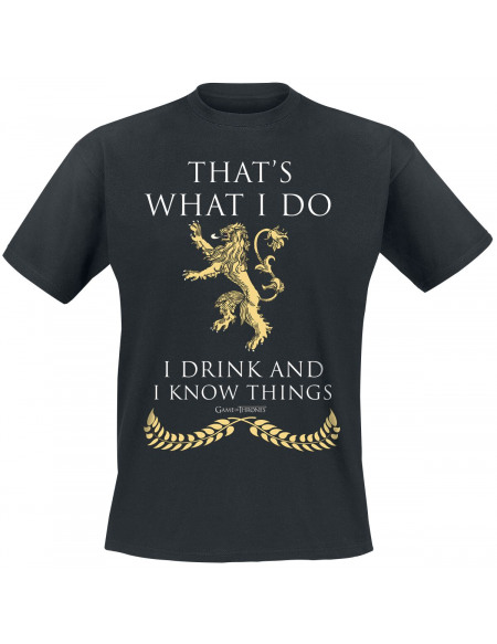 Game Of Thrones Lannister - What I Do T-shirt noir