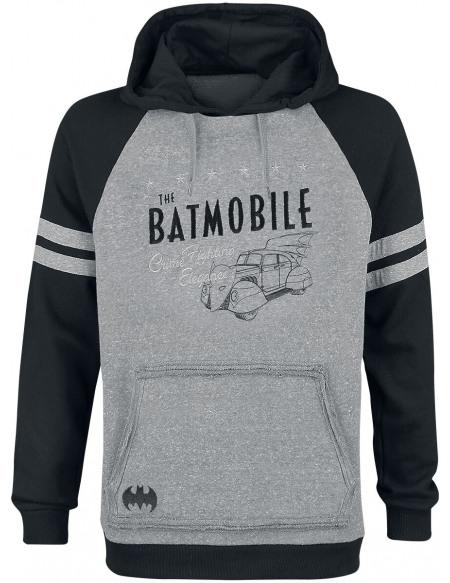 Batman Batmobile Sweat à capuche gris chiné/noir
