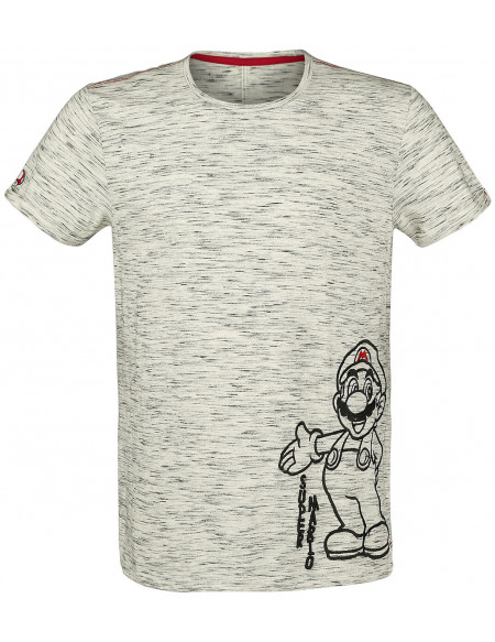 Super Mario Mario T-shirt gris chiné