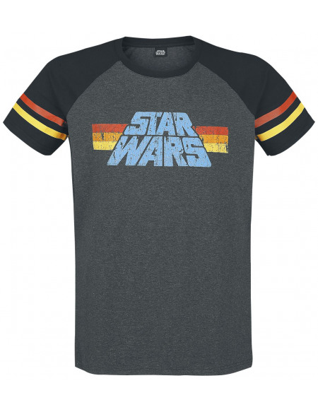 Star Wars 77 T-shirt gris foncé chiné/noir