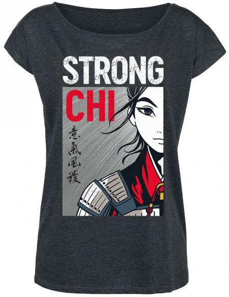 Mulan Strong Chi T-shirt Femme gris chiné
