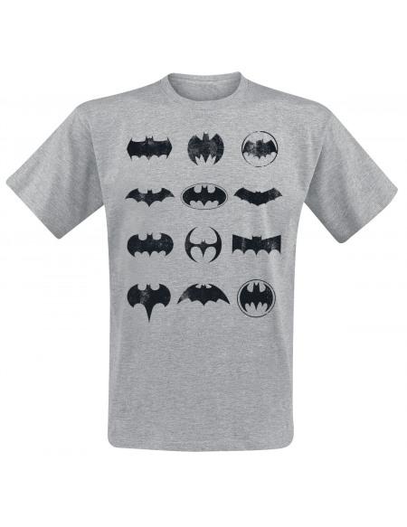 Batman Logo À Travers Le Temps T-shirt gris