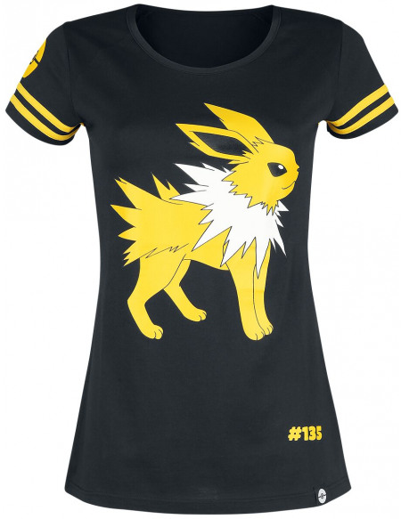 Pokémon Voltali T-shirt Femme noir