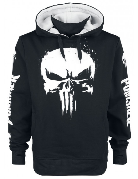 The Punisher Skull Sweat à capuche noir