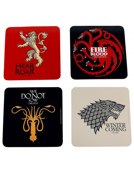 Game Of Thrones Maisons Dessous de verre multicolore