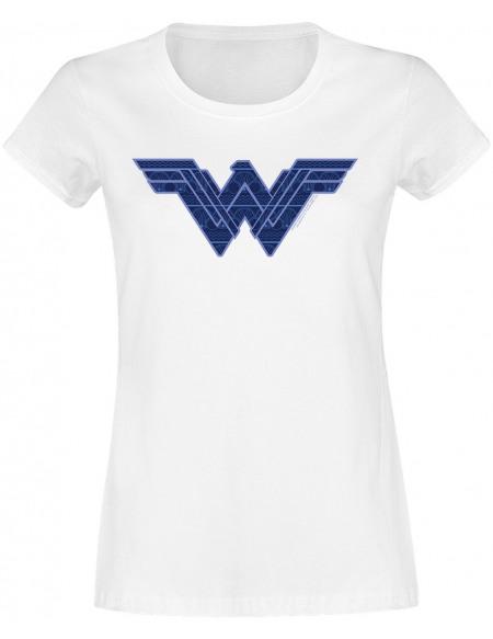 Wonder Woman Logo T-shirt Femme blanc