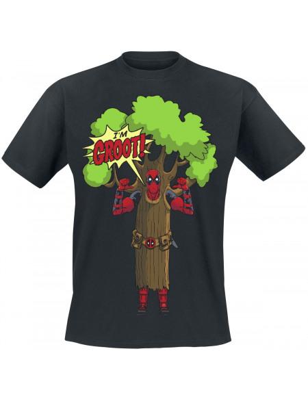 Deadpool I Am Groot T-shirt noir
