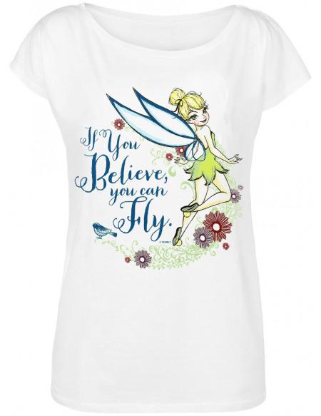 Peter Pan Fée Clochette - If You Believe T-shirt Femme blanc