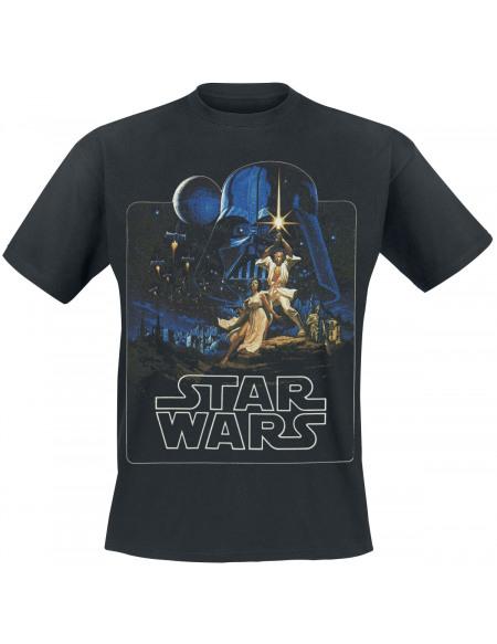 Star Wars Episode 4 - A New Hope - Classic Poster T-shirt noir
