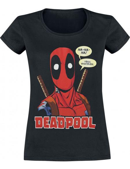 Deadpool Whatever T-shirt Femme noir