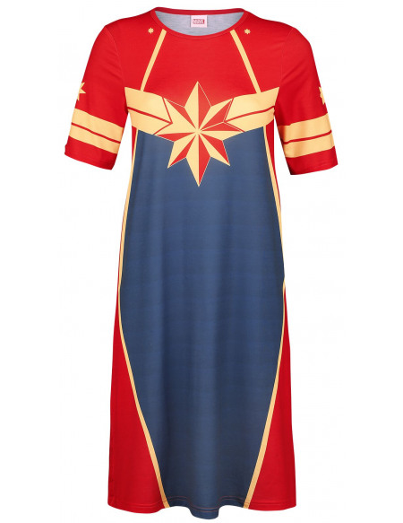Captain Marvel Cosplay Robe multicolore