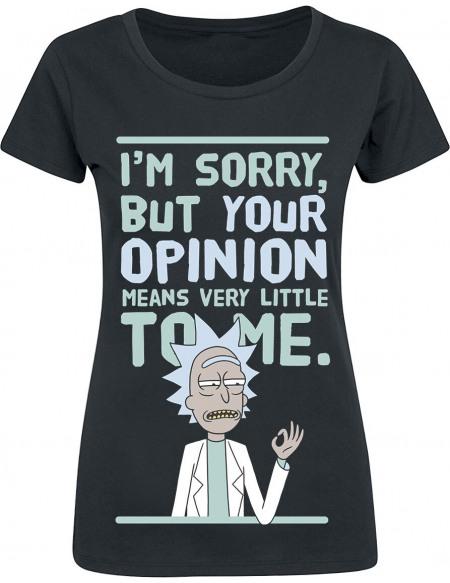 Rick & Morty Your Opinion T-shirt Femme noir