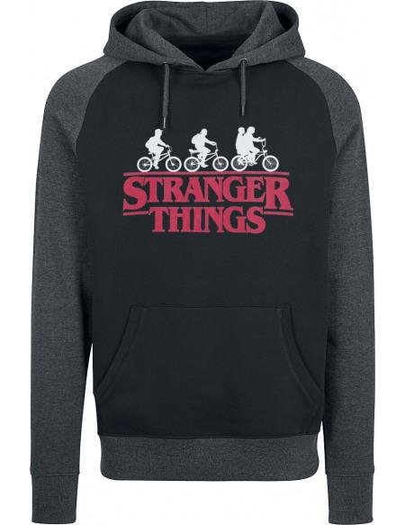 Stranger Things Logo Sweat à capuche noir/gris