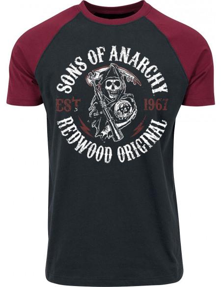 Sons Of Anarchy Redwood Original T-shirt noir/rouge