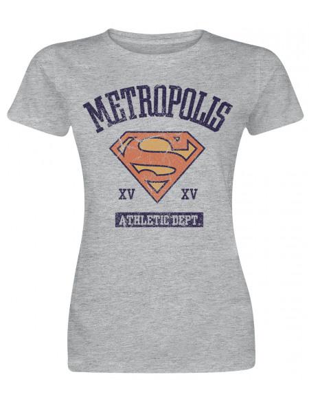 Supergirl Athletic Dept. T-shirt Femme gris chiné