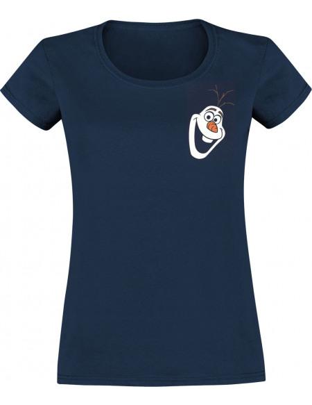 La Reine Des Neiges Olaf - I Love Hugs T-shirt Femme bleu