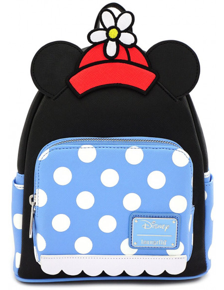 Mickey & Minnie Mouse Loungefly - Pois Minnie Sac à Dos noir/bleu/blanc