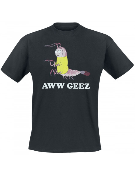 Rick & Morty Aww Geez T-shirt noir