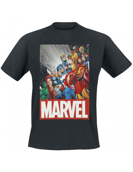 Marvel's The Avengers Classic Avengers T-shirt noir