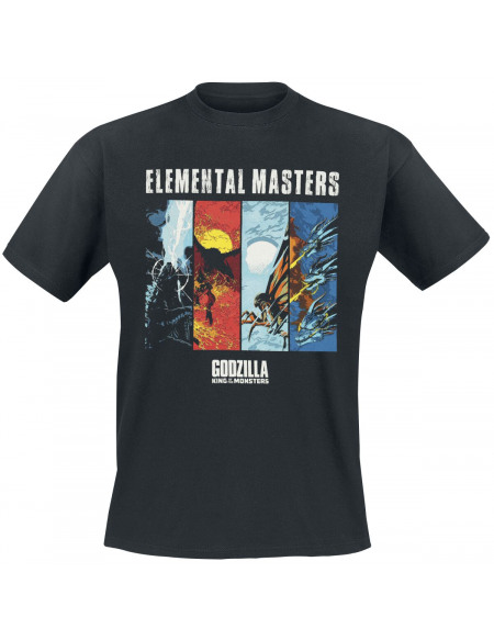 Godzilla Elemental Masters T-shirt noir