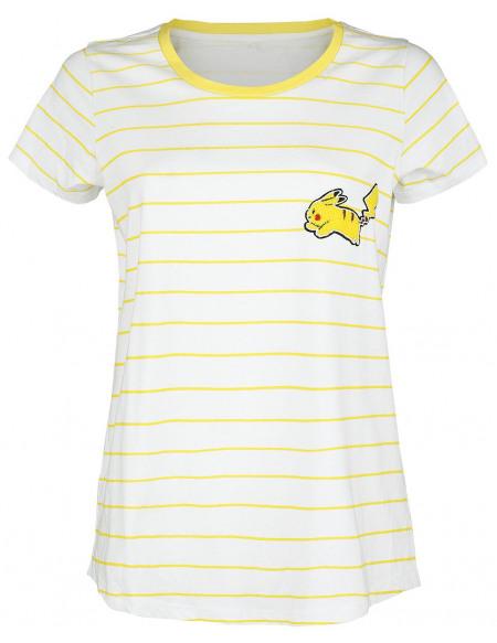 Pokémon Pikachu T-shirt Femme jaune/blanc