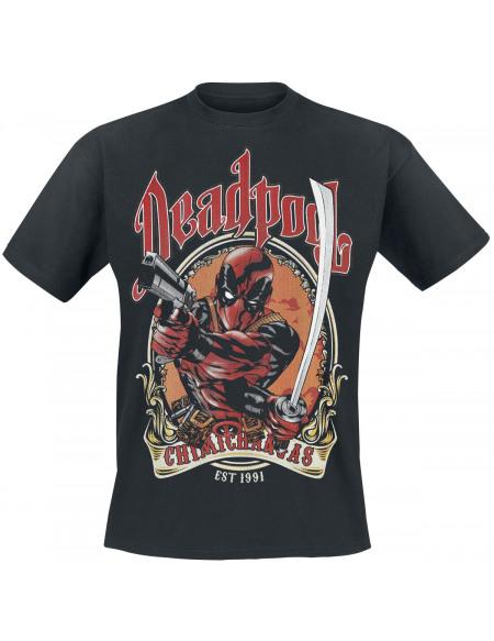 Deadpool T-Shirt Chimichangas T-shirt noir