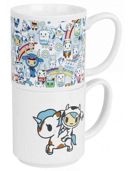 TokiDoki Mugs Empilables Set de Mugs blanc