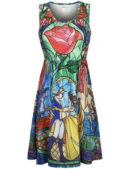 La Belle Et La Bête Rose Robe multicolore