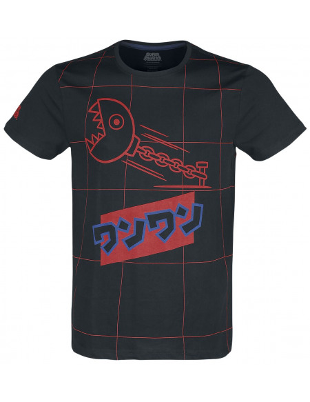 Super Mario Chain Chomp T-shirt noir