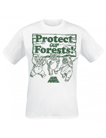 Star Wars Protect Our Forests T-shirt blanc