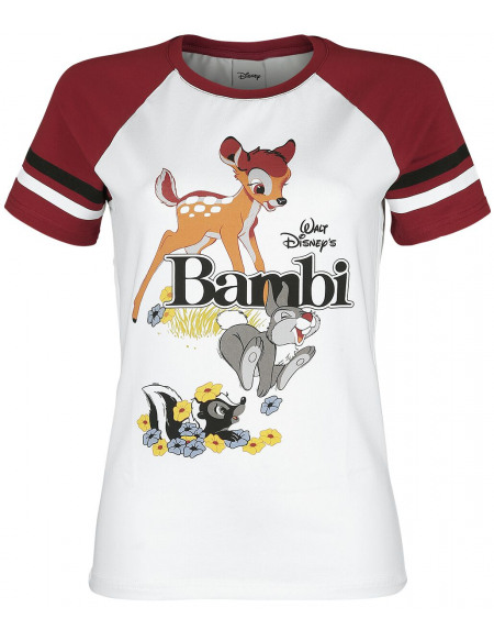Bambi Classic T-shirt Femme blanc/rouge