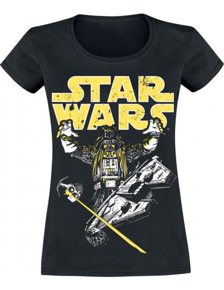 Star Wars Dark Vador - Intimidation T-shirt Femme noir