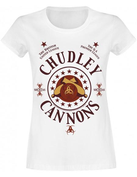 Harry Potter Chudley Cannons T-shirt Femme blanc