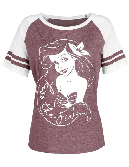 La Petite Sirène Kiss The Girl T-shirt Femme bordeaux tacheté/blanc