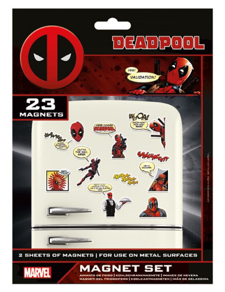 Deadpool Comic (Set) Magnette frigo multicolore