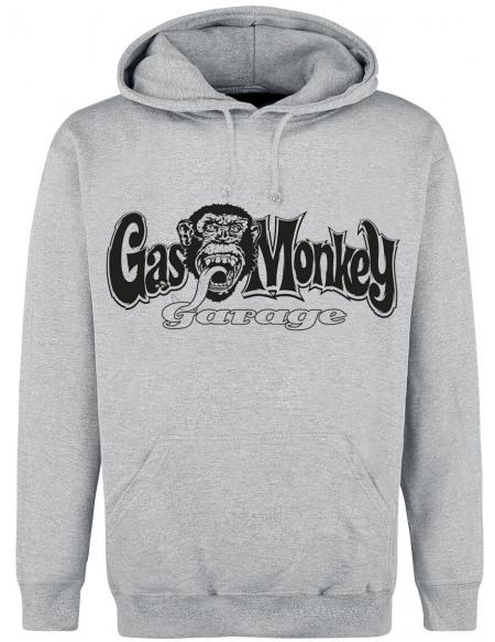 Gas Monkey Garage Logo Sweat à capuche gris chiné