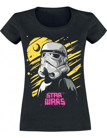 Star Wars Intergalactic Stromtrooper T-shirt Femme noir