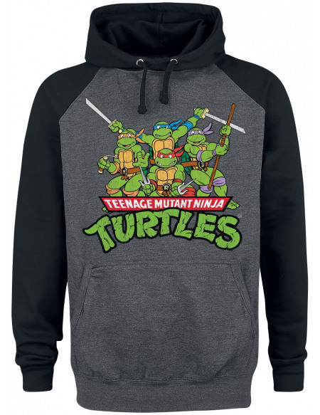 Les Tortues Ninja Group Sweat à capuche noir/anthracite