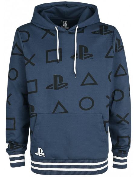 Playstation Boutons Sweat à capuche bleu