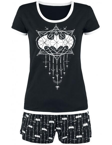 Batman Bat-Logo Pyjama noir/blanc