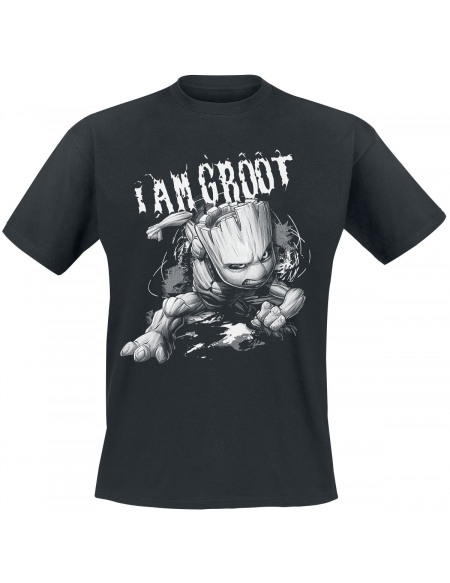 Les Gardiens De La Galaxie I Am Groot T-shirt noir