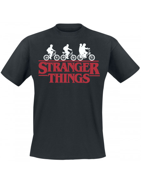 Stranger Things Bike Club T-shirt noir