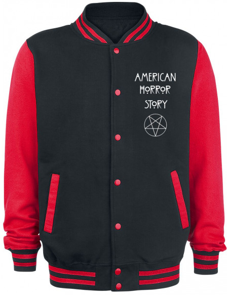 American Horror Story Normal People Scare Me Veste de Football Américain noir/rouge