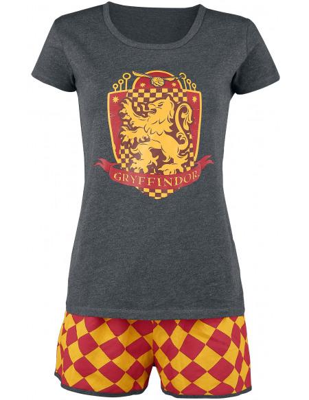 Harry Potter Gryffondor Quidditch Pyjama gris/rouge/jaune