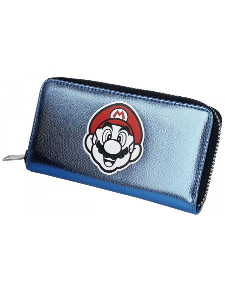 Super Mario Équipe Portefeuille bleu